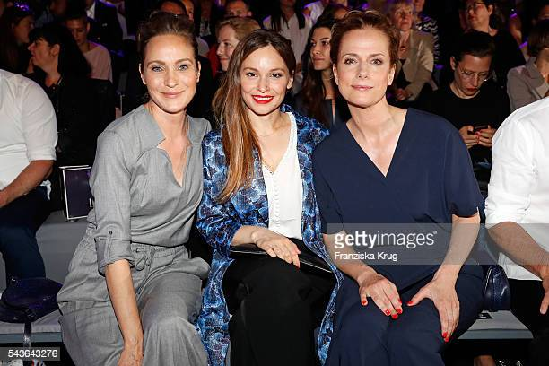 Jeanette Hain Mina Tander and Claudia Michelsen attend the Laurel show during the MercedesBenz Fashion Week Berlin Spring/Summer 2017 at Erika Hess...