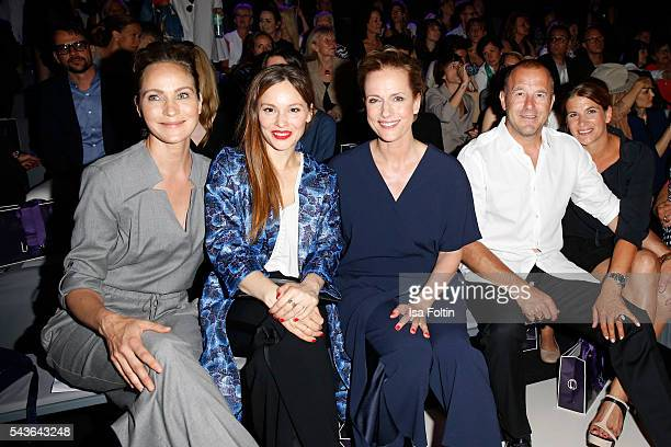 Jeanette Hain Mina Tander Claudia Michelsen Heino Ferch and MarieJeanette Ferch attend the Laurel show during the MercedesBenz Fashion Week Berlin...