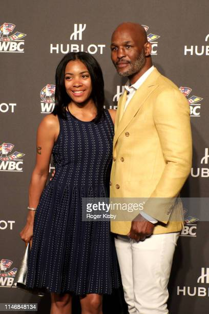 Jeanette Hopkins and Bernard Hopkins attend the Hublot x WBC Night of Champions Gala at the Encore Hotel on May 03 2019 in Las Vegas Nevada