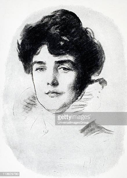 Jeanette Jennie Jerome Lady Randolph Churchill 1854 to 1921 Engraving from a drawing by Sargeant From A Roving Commission by Winston S Churchill...