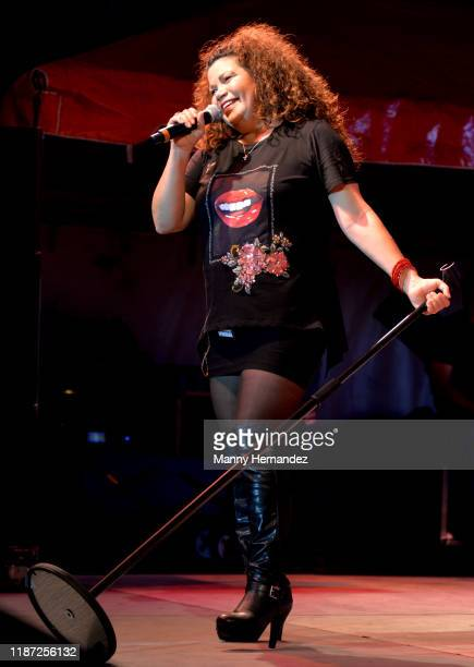 Jeanette Jurado from Exposé performance at Mega Beer and 90s Music Festival at Magic City Casino on November 9th 2019 in Miami FL