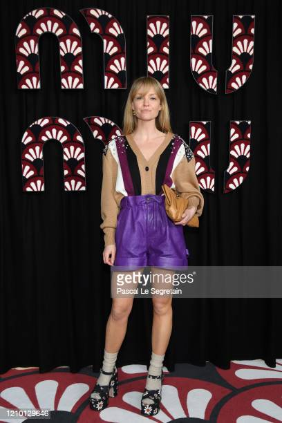 Jeanette Madsen attends the Miu Miu show as part of the Paris Fashion Week Womenswear Fall/Winter 2020/2021 on March 03 2020 in Paris France