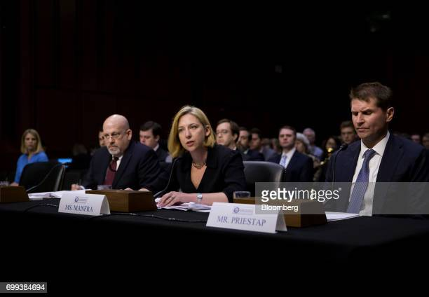 Jeanette Manfra acting director of undersecretary national protection and programs directorate at the Department of Homeland Security center speaks...