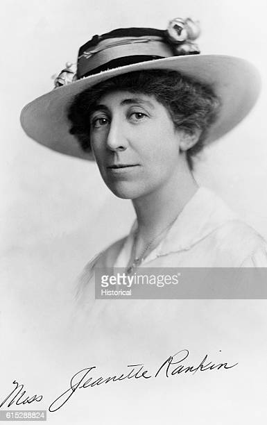 Jeanette Rankin the first woman member of the House of Representatives and an active suffragette and social worker