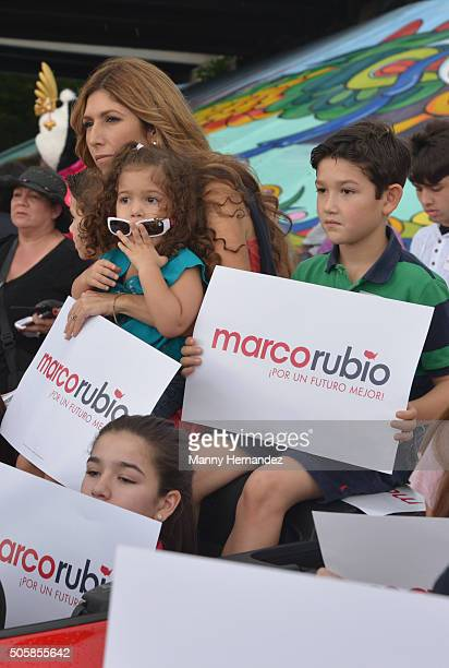 Jeanette Rubio attends Three Kings Parade on January 10 2016 in Miami Florida