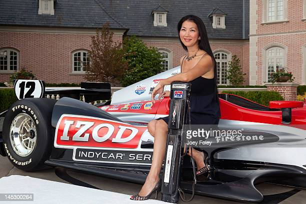 Jeanette 'The Black Widow' Lee attends the Indy 500 Soiree Presented by Lucas Oil on May 25 2012 in Indianapolis Indiana