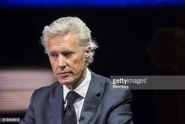 JeanFrancois Decaux cochief executive officer of JCDecaux SA pauses during a Bloomberg Television interview in Paris France on Thursday March 3 2016...
