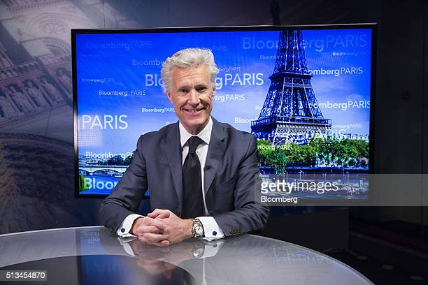 JeanFrancois Decaux cochief executive officer of JCDecaux SA poses for a photograph ahead of a Bloomberg Television interview in Paris France on...