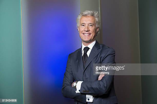 JeanFrancois Decaux cochief executive officer of JCDecaux SA poses for a photograph following a Bloomberg Television interview in Paris France on...