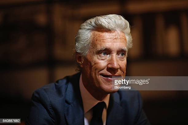 JeanFrancois Decaux cochief executive officer of JCDecaux SA poses for a photograph following a Bloomberg Television interview on day two of the St...
