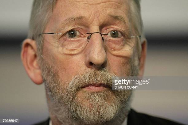 JeanFrancois Delagrange the father of murdered French student Amelie Delagrange is pictured at a press conference in London on February 25 2008 Wheel...