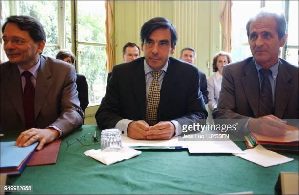 JeanFrancois Mattei Francois Fillon and Hubert Falco