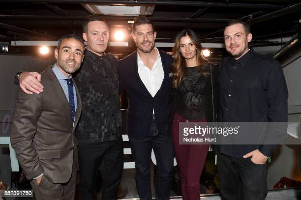 JeanFrancois Sberr Hush Jesse Palmer Emely Fardo and Tristan Eaton attend as Hublot launches 'Fame v Fortune' Timepieces with Street Artists Tristan...