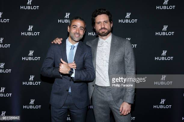 JeanFrancois Sberro and Edgar Ramirez attend the Hublot Private Dinner with Edgar Ramirez at Waldorf Astoria Beverly Hills on March 13 2018 in...