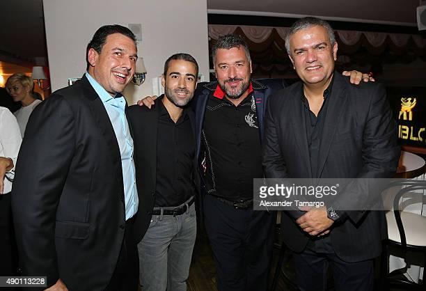 Jean-Francois Sberro, Rick de la Croix, Ricardo Guadalupe are seen as Haute Living and Hublot Celebrate Scottie Pippen's 50th Birthday at El Tucan on...
