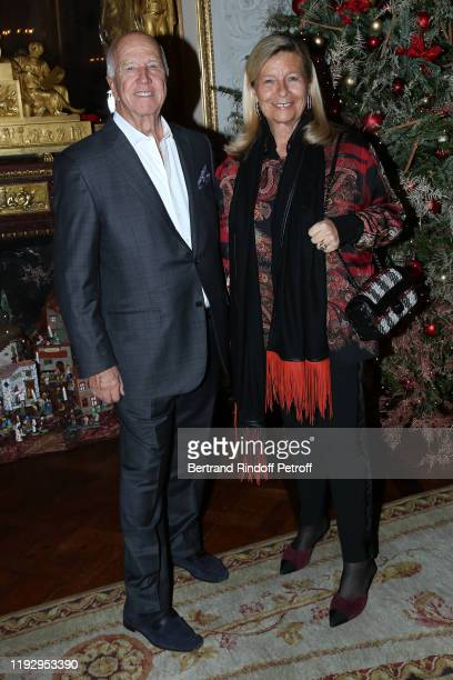 JeanGabriel Albicocco and Corinne Bouygues attend Gilbert Coullier Receives The Officer's insignia of the Legion Of Honor Insignes d'Officier de la...