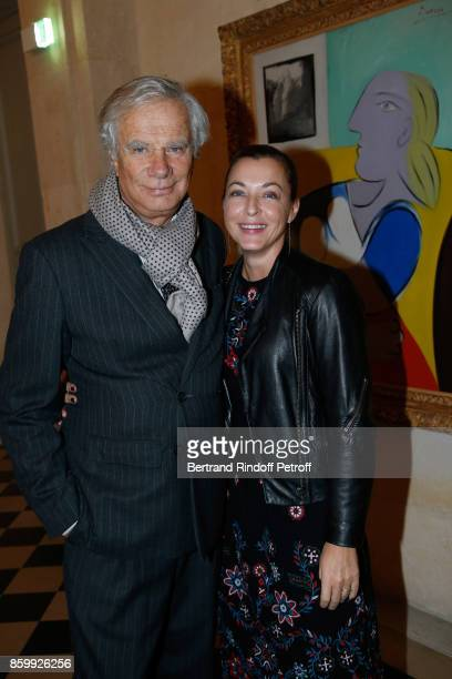 JeanGabriel Mitterrand and Arabelle ReilleMahdavi attend the 'Picasso 1932' Exhibition Opening at Musee national PicassoParis on October 10 2017 in...