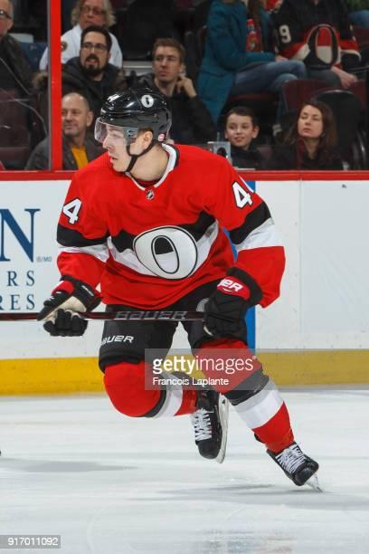 JeanGabriel Pageau of the Ottawa Senators skates against the Nashville Predators at Canadian Tire Centre on February 9 2018 in Ottawa Ontario Canada