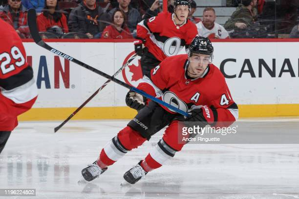 JeanGabriel Pageau of the Ottawa Senators skates against the Buffalo Sabres at Canadian Tire Centre on December 23 2019 in Ottawa Ontario Canada