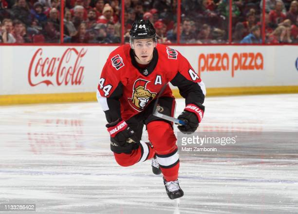 JeanGabriel Pageau of the Ottawa Senators skates against the Calgary Flames at Canadian Tire Centre on February 24 2019 in Ottawa Ontario Canada