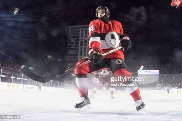 JeanGabriel Pageau of the Ottawa Senators skates towards his net against the Montreal Canadiens in the 2017 Scotiabank NHL100 Classic at Lansdowne...