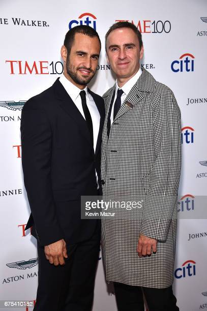 JeanGeorges d'Orazio and Raf Simons attend 2017 Time 100 Gala at Jazz at Lincoln Center on April 25 2017 in New York City