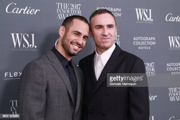 JeanGeorges d'Orazio and Raf Simons during the WSJ Magazine 2017 Innovator Awards at Museum of Modern Art on November 1 2017 in New York City