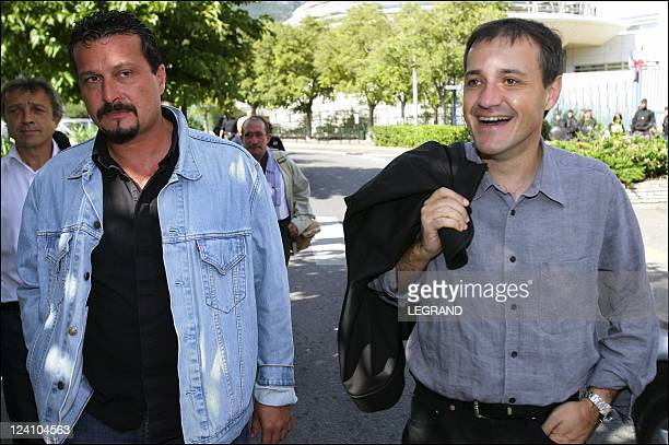 JeanGuy Talamoni and Alain Mosconi In Bastia France On October 04 2005 JeanGuy Talamoni and Alain Mosconi on the Paoli Boulevard before going to talk...