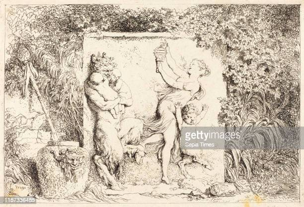 JeanHonore Fragonard The Satyrs' Dance etching
