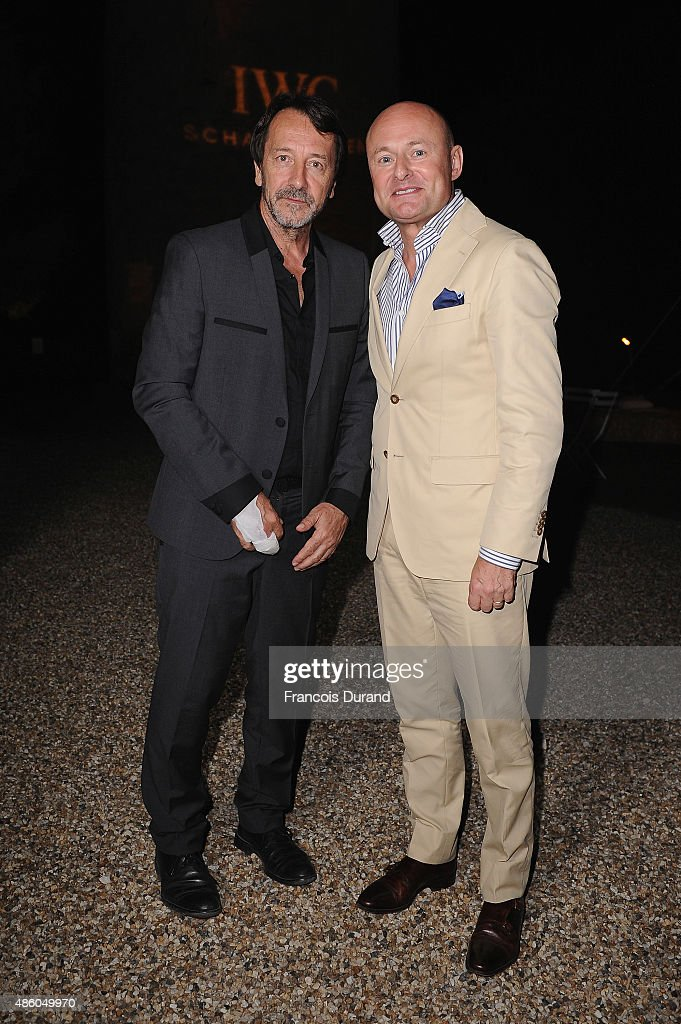 Jean-Hugues Anglade and IWC Schaffhausen CEO Georges Kern attend the closing dinner hosted by IWC during the Festival du Film Francophone d'Angouleme on August 30, Angouleme, France.