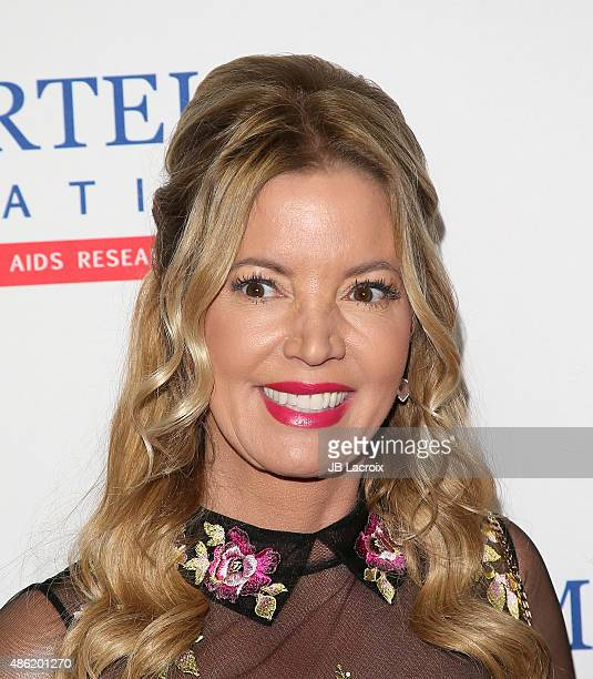 Jeanie Buss arrives at the TJ Martell Foundation's Spirit of Excellence Awards held at the Beverly Wilshire Four Seasons Hotel on September 1 2015 in...