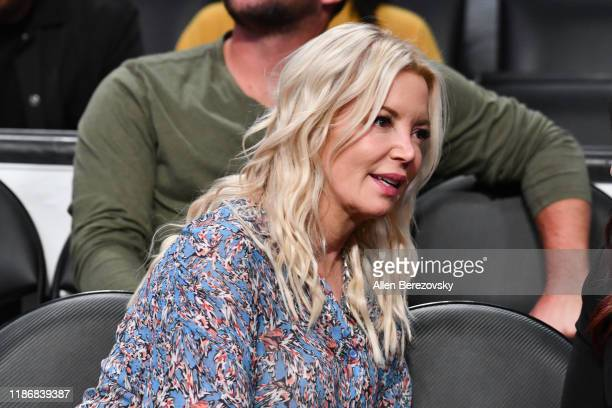 Jeanie Buss attends a basketball game between the Los Angeles Lakers and the Toronto Raptors at Staples Center on November 10 2019 in Los Angeles...