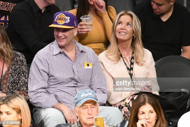 Jeanie Buss attends a basketball game between the Los Angeles Lakers and the Phoenix Suns at Staples Center on February 6 2018 in Los Angeles...