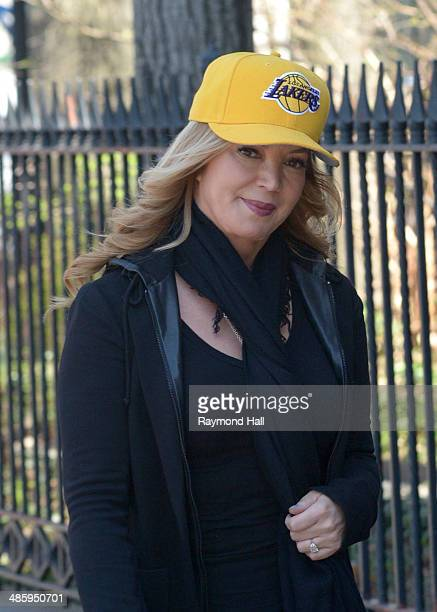 Jeanie Buss is seen in Soho on April 21 2014 in New York City