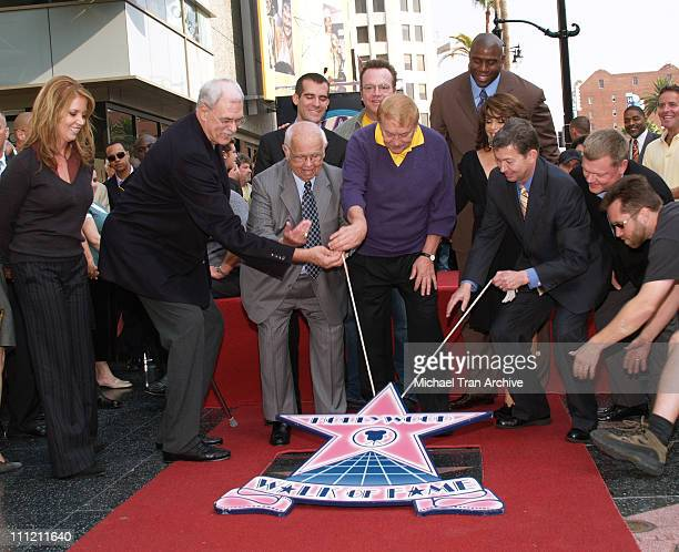 Jeanie Buss Phil Jackson Johnny Grant Eric Garcetti Jerry Buss Tom Arnold Earvin Magic Johnson Paula Abdul