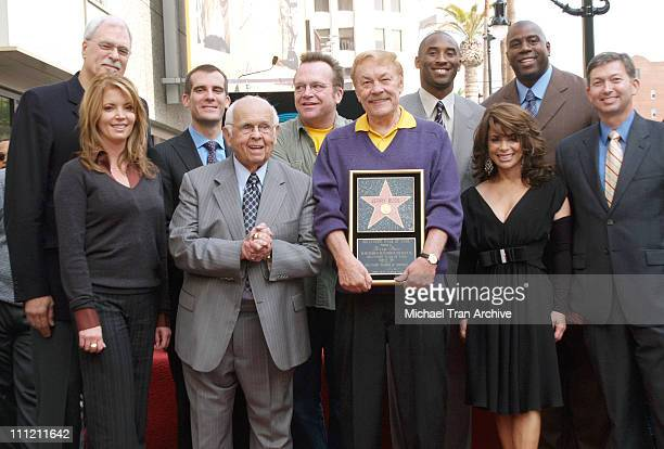 Jeanie Buss Phil Jackson Johnny Grant Eric Garcetti Jerry Buss Tom Arnold Earvin Magic Johnson Kobe Bryant Paula Abdul