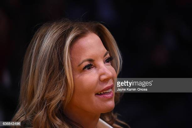 Jeanie Buss President of the Los Angeles Lakers attends the game against the Los Angeles Clippers at Staples Center on December 25 2016 in Los...