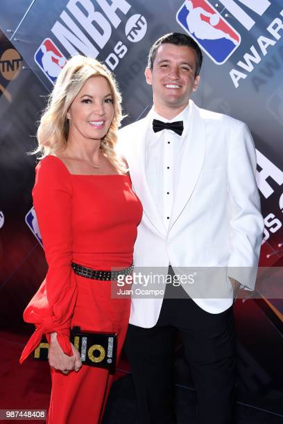 Jeanie Buss walks the red carpet before the 2018 NBA Awards Show on June 25 2018 at The Barkar Hangar in Santa Monica California NOTE TO USER User...