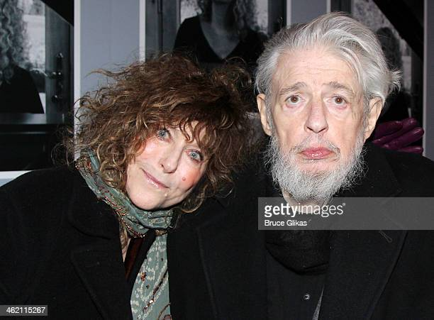 Jeanie Reavis and husband Gerry Goffin attend the opening night of Beautiful The Carole King Musical on Broadway at The Stephen Sondheim Theatre on...