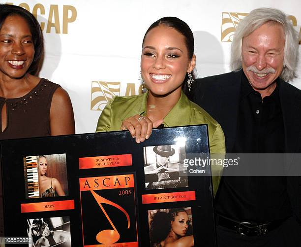 Jeanie Weems Alicia Keys and Todd Brabec during ASCAP 18th Annual Rhythm Soul Music Awards Press Room at The Beverly Hilton Hotel in Beverly Hills...