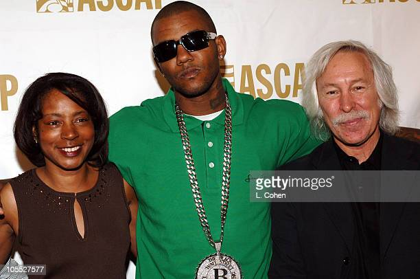 Jeanie Weems The Game and Todd Brabec during ASCAP 18th Annual Rhythm Soul Music Awards Press Room at The Beverly Hilton Hotel in Beverly Hills...