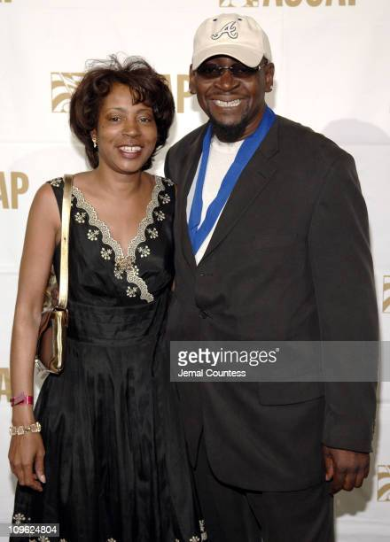 Jeanie Weems with Manuel Seal during 19th Annual ASCAP Rhythm Soul Awards Press Room at Beverly Hilton Hotel in Beverly Hills California United States