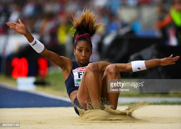 Jeanine Assani Issouf of France competes in the Women's Triple Jump Final during day two of the European Athletics Team Championships at the Lille...