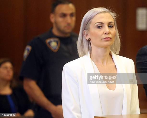 Jeanine Heller appears in Manhattan Criminal Court on Wednesday August 6 2014 Heller allegedly stalked Orange Is The New Black star Taryn Manning