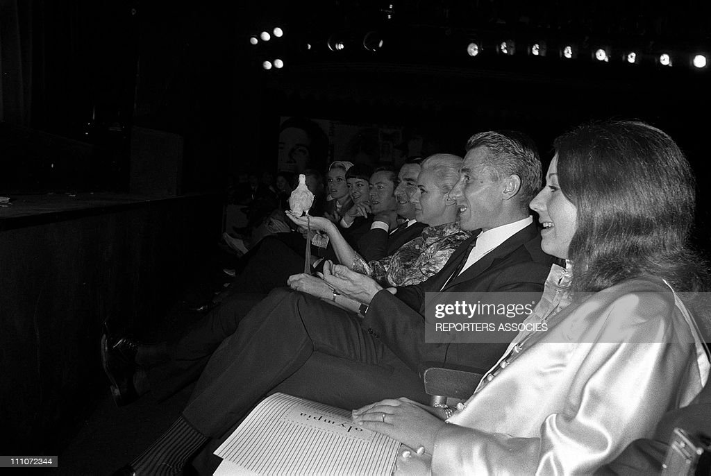Janquetil In The First Time Of Dalida (N And B) At Olympia In Paris, France On October 07, 1967. : Photo d'actualité