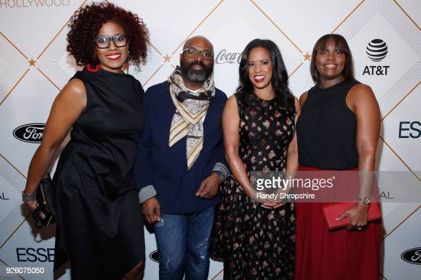 Jeanine Lewis President Essence Communications Inc Michelle Ebanks and Jamiese Miller attend the 2018 Essence Black Women In Hollywood Oscars...