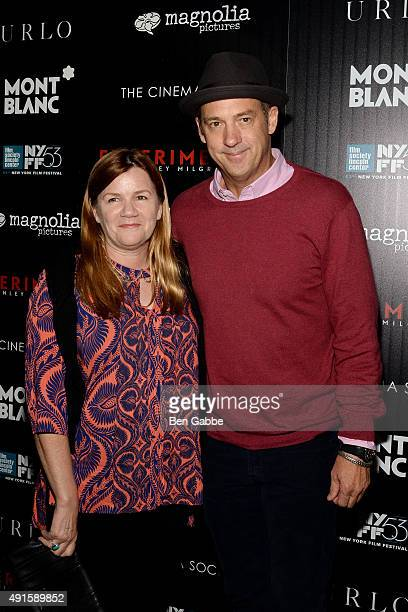 Jeanine Lobell and actor Anthony Edwards attend the party for the 53rd New York Film Festival's premiere of Magnolia Pictures' 'Experimenter' hosted...
