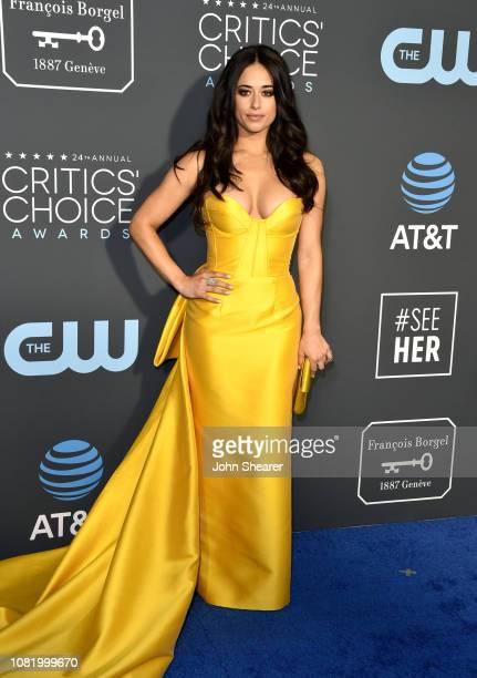 Jeanine Mason attends the 24th Annual Critics' Choice Awards at Barker Hangar on January 13 2019 in Santa Monica California