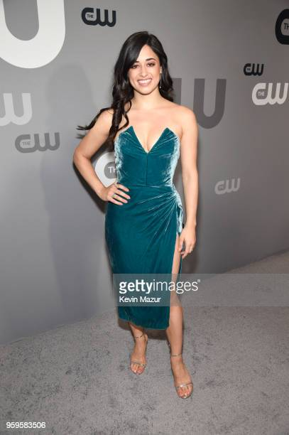 Jeanine Mason attends The CW Network's 2018 upfront at The London Hotel on May 17 2018 in New York City