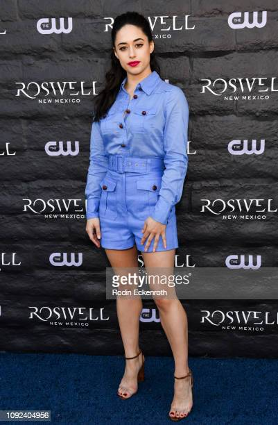 Jeanine Mason attends the launch of Roswell New Mexico at The CW's Crashdown on Sunset Experience on January 10 2019 in West Hollywood California